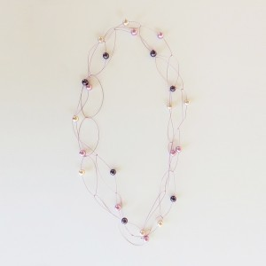 "Pearl necklace ""glossy"" Violet/pink"